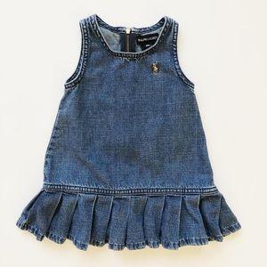 Ralph Lauren denim pleated jumper dress